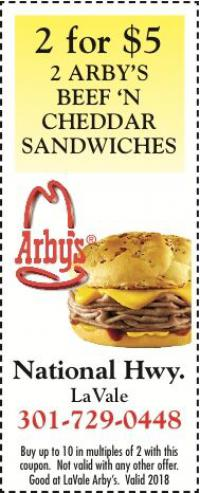 arby s 2 for 5 arby s beef n cheddar sandwiches