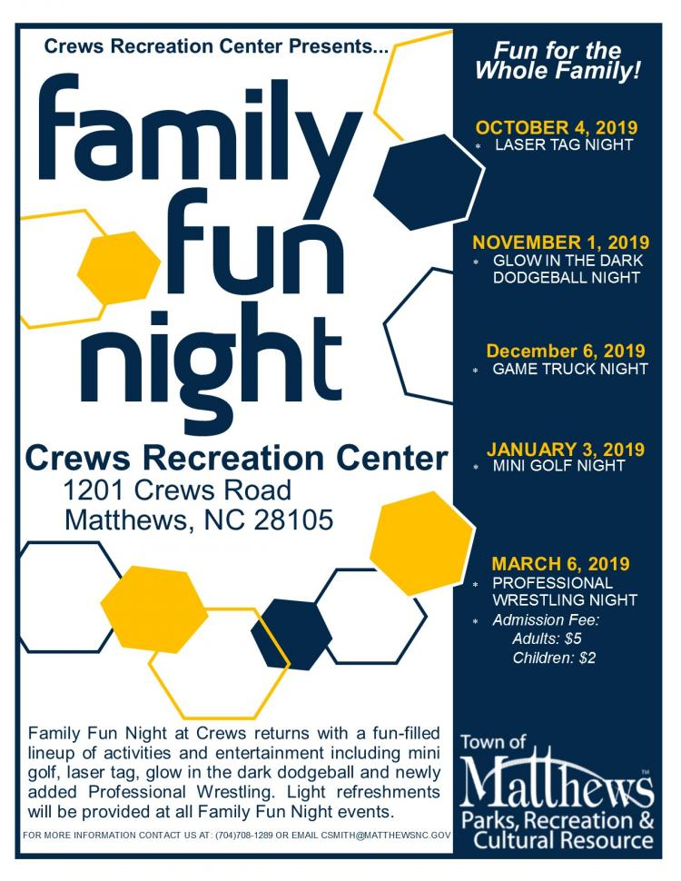 Crews Family Fun Night