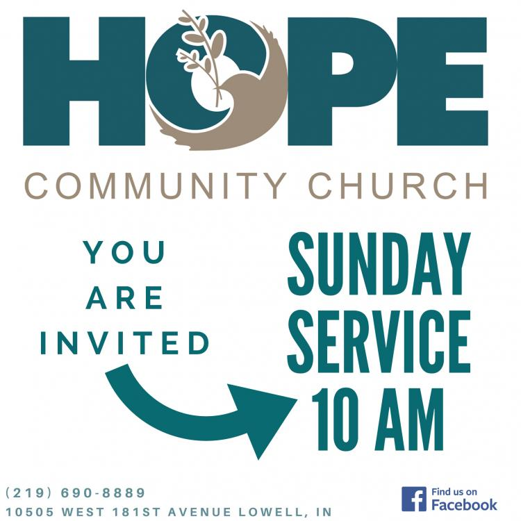 Sunday Worship at Hope Community Church of Lowell Indiana