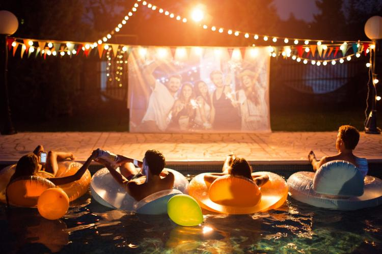Movie Night Pool Party