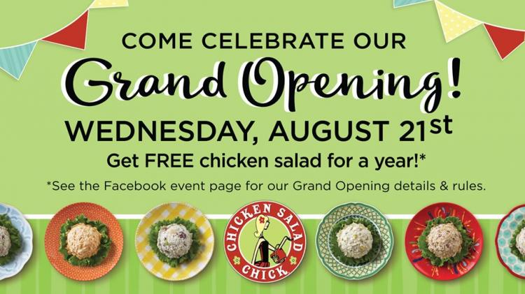 Grand Opening Celebration at Chicken Salad Chick