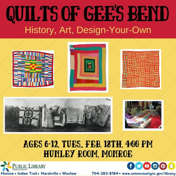 Quilts of Gee's Bend: History, Art, Design-Your-Own