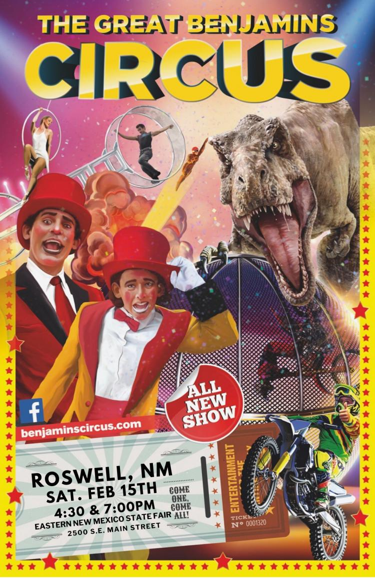 The Great Benjamins Circus is coming to you for 1 BIG DAY! Don't miss out on y