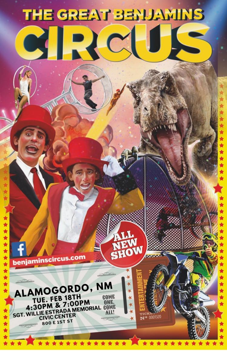 The Great Benjamins Circus is coming to you for 1 BIG DAY!