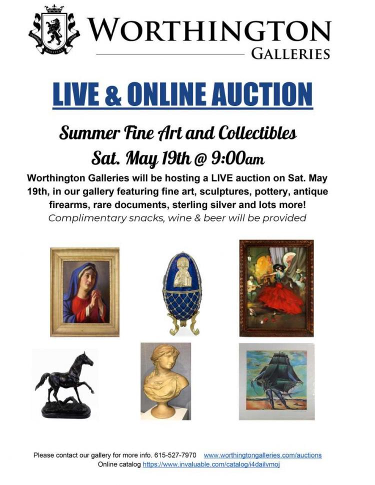Worthington Galleries Auction