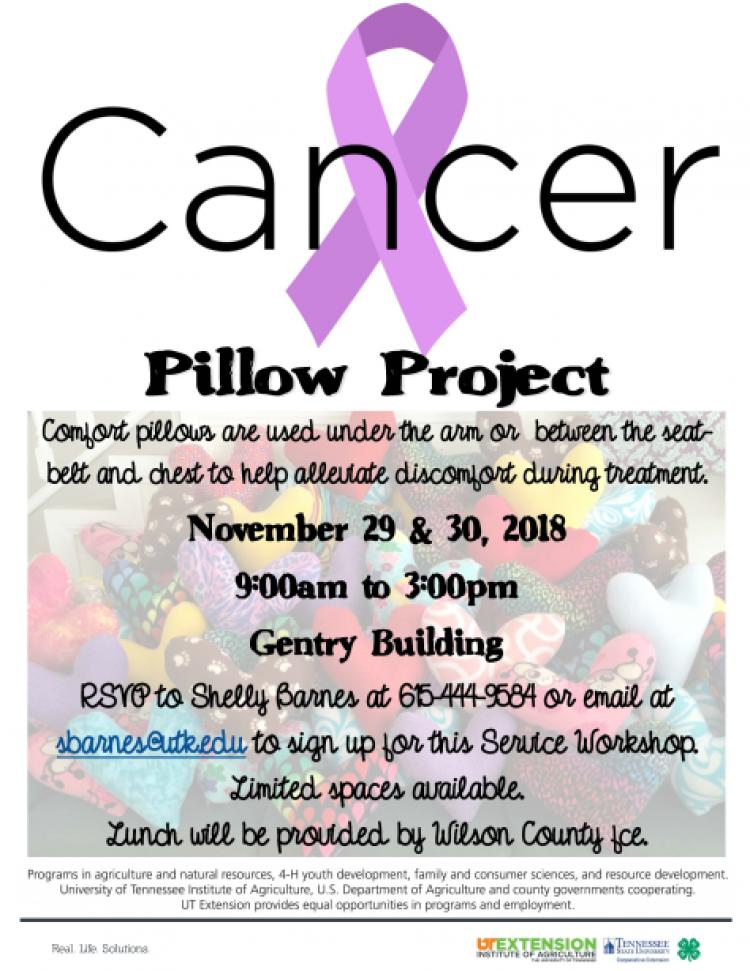 Cancer Pillow Project