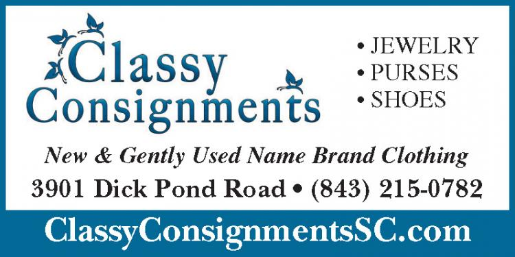 Classy Consignments Now Open On Dick Pond Road on 544