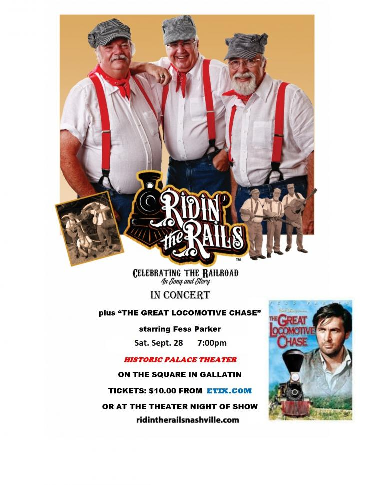 Ridin' The Rails Concert & Movie @The Palace Theater