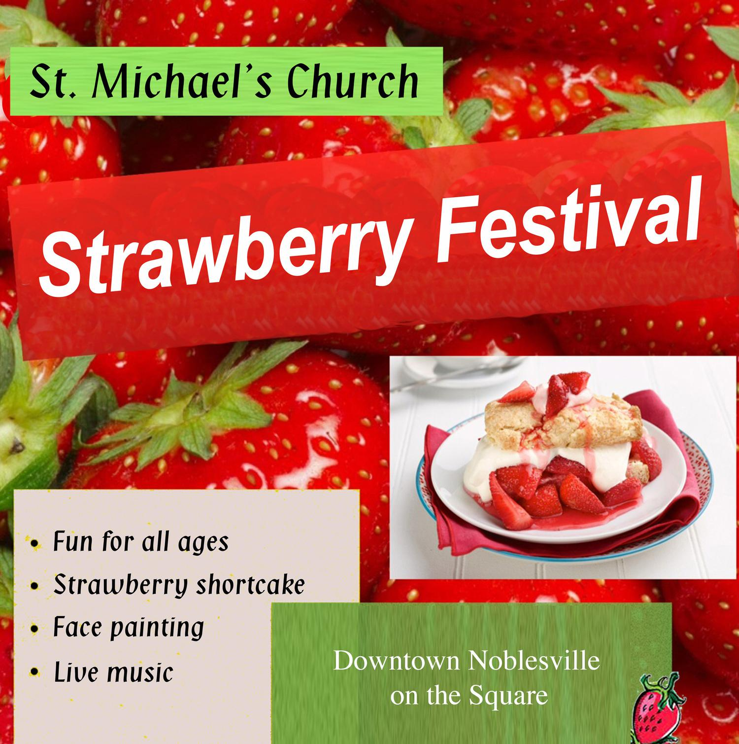 Save the date - Strawberry Festival coming in JUNE to Noblesville!