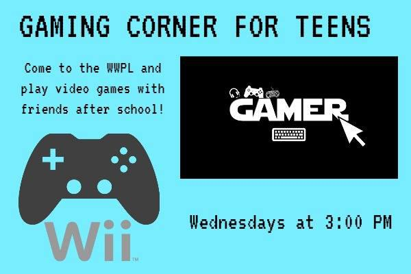 Teen Event: Gaming Corner at Westfield Library