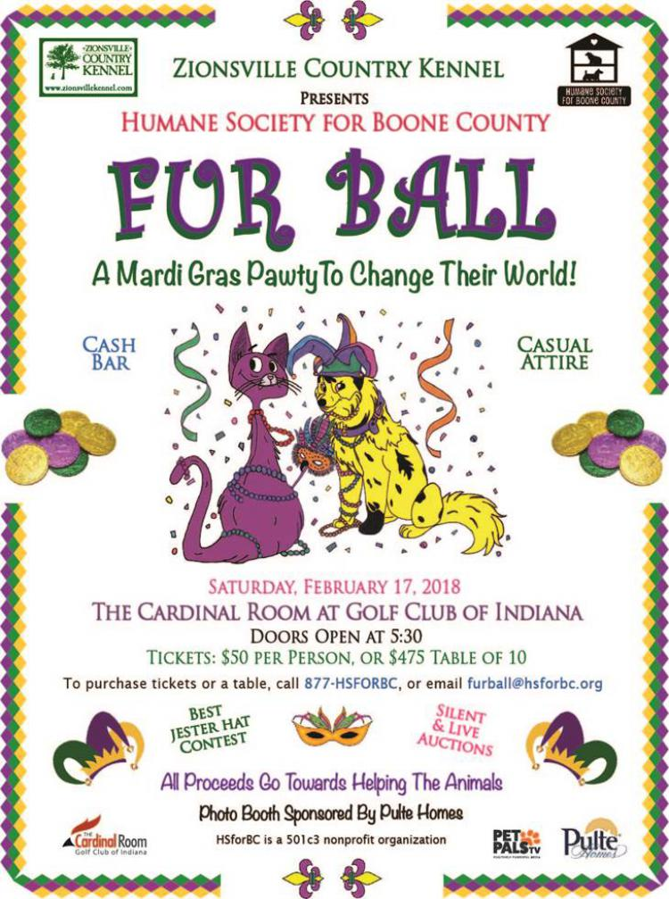 Humane Society for Boone County FUR BALL Mardi Gras!