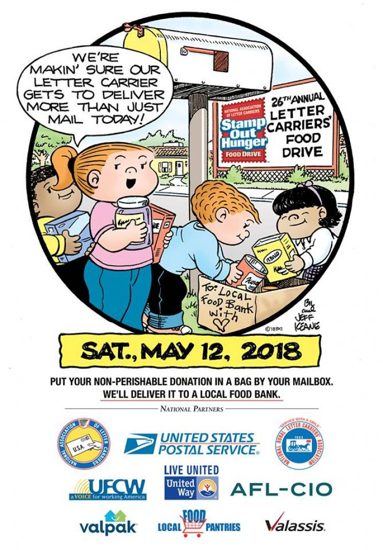 Letter Carriers' Stamp Out Hunger® Food Drive 2018