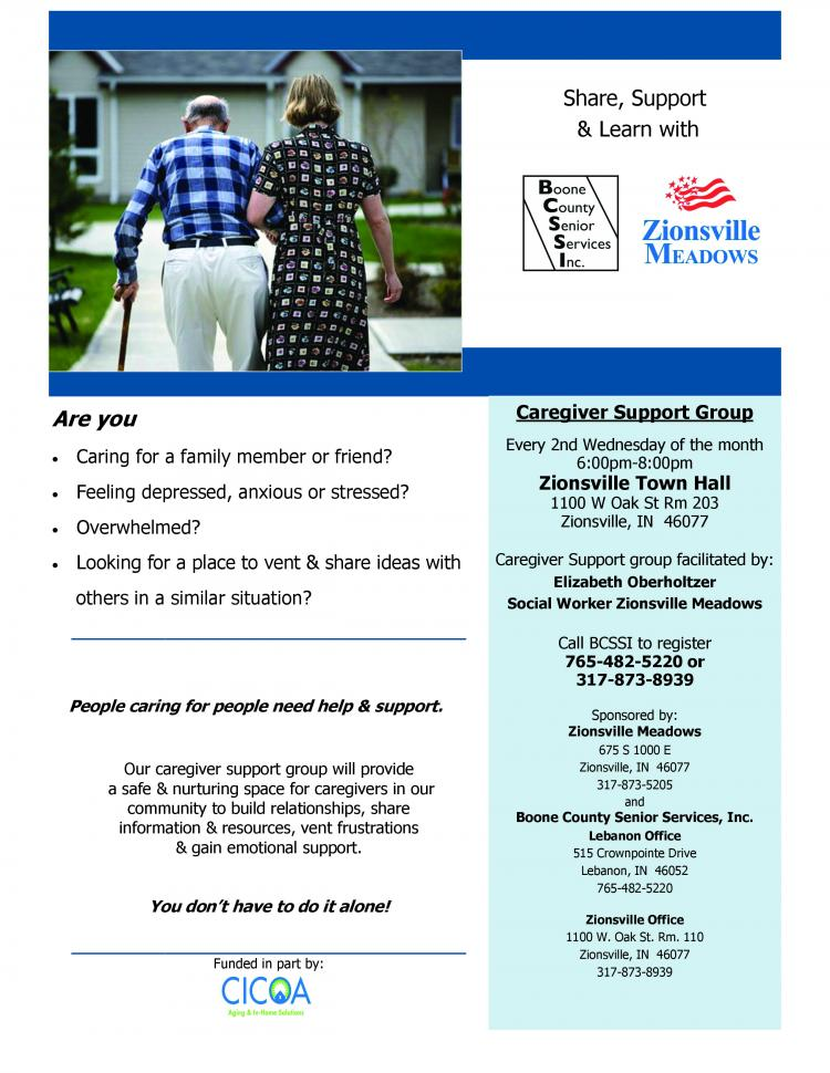 Caregiver Support Group - Zionsville