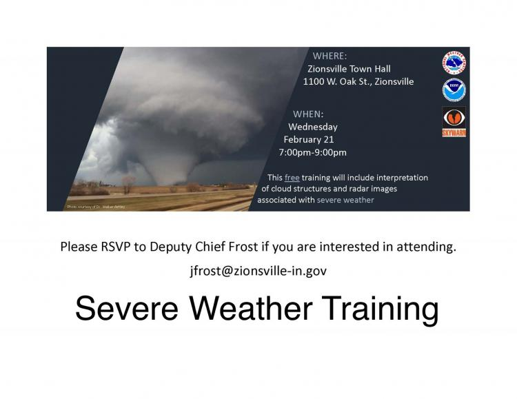 Severe Weather Training