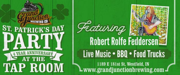 St. Patrick's Day Anniversary Party at Grand Junction Tap Room - Westfield
