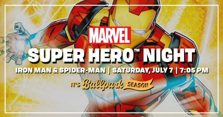 Indianapolis Indians vs Columbus Clippers - Marvel Super Hero Night