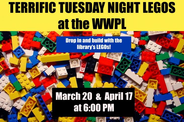 Terrific Tuesday Night Legos at Westfield Library