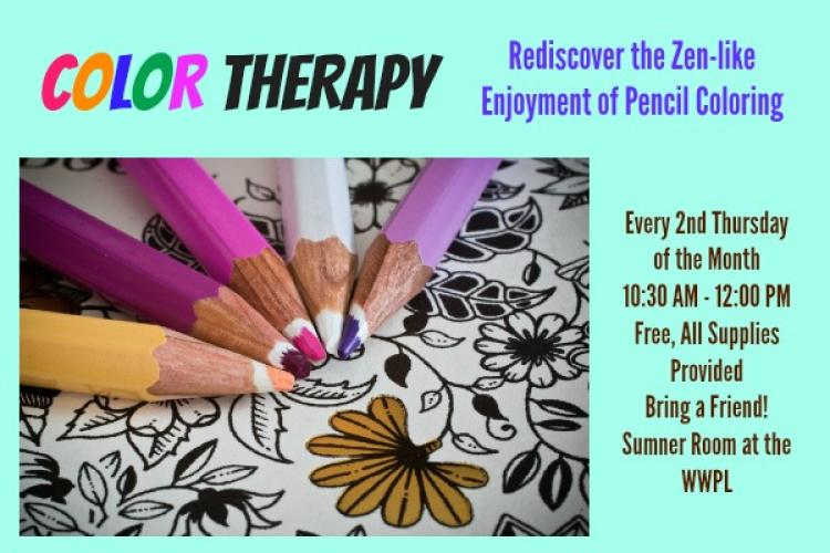 Color Therapy at Westfield Library