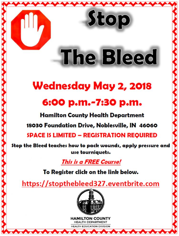 Stop The Bleed at Hamilton County Health Department