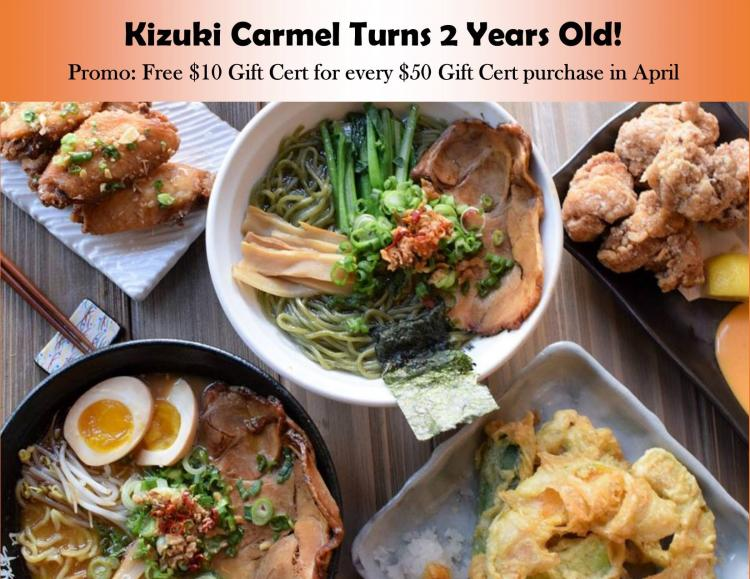 April Kizuki Anniversary Special in Carmel!