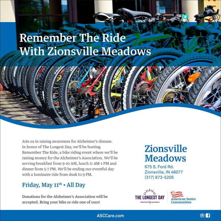 Remember the Ride at Zionsville Meadows