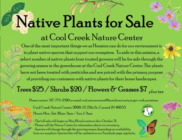 Native Plants Sale at Cool Creek
