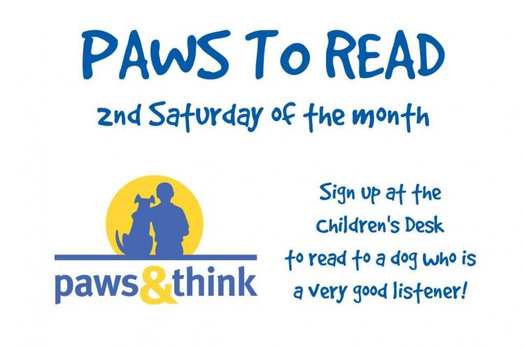 Paws to Read at the Westfield Library