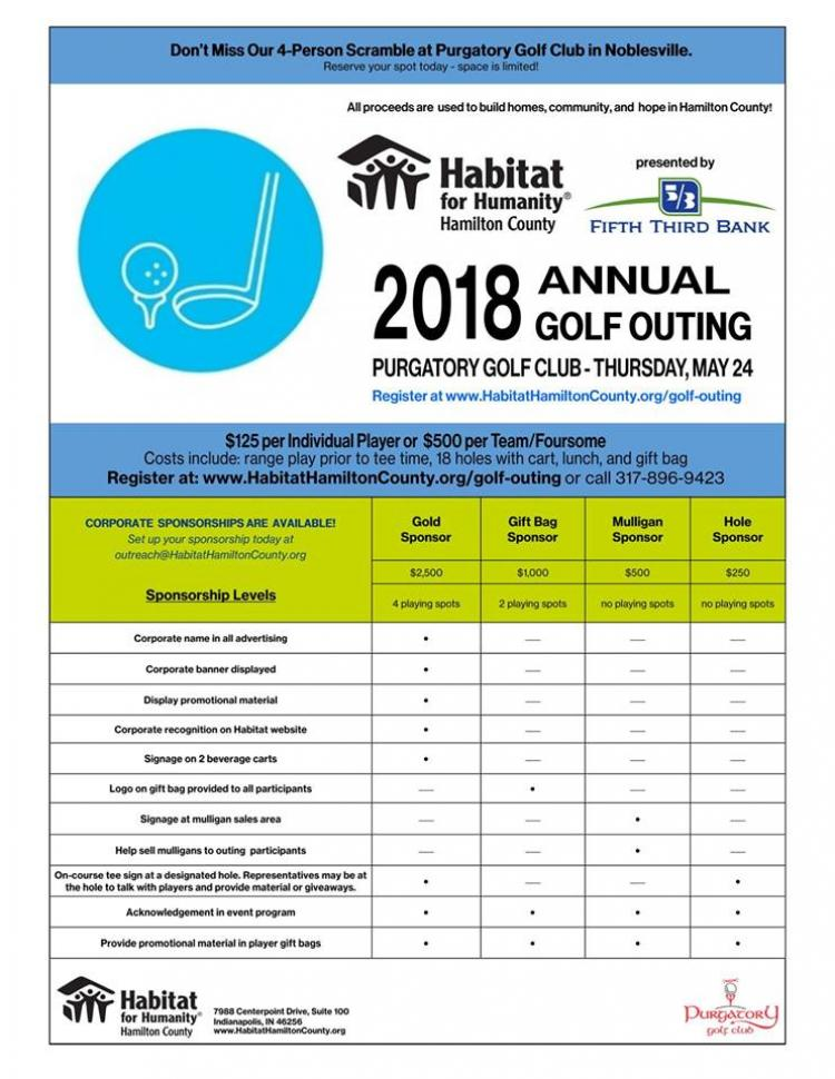 Habitat for Humanity of Hamilton County Annual Golf Outing