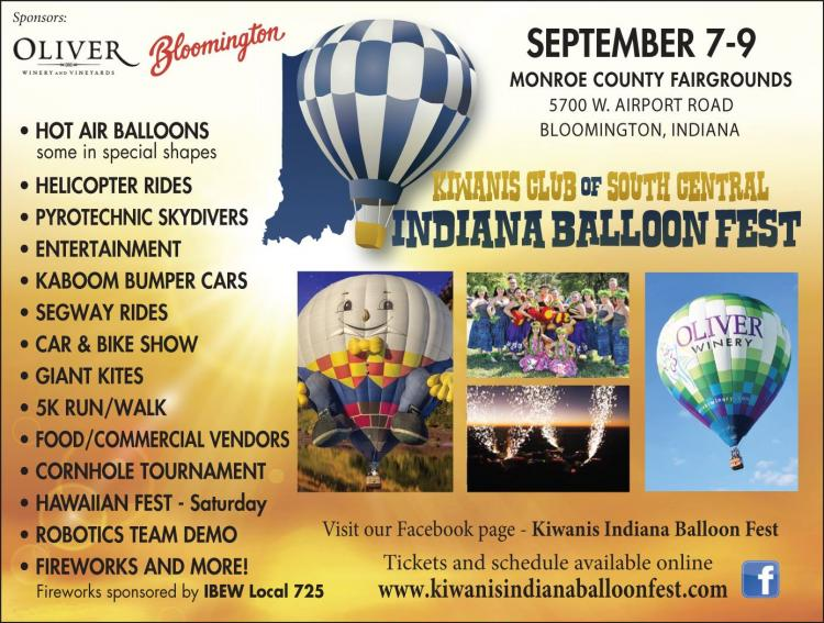 Kiwanis Indiana Balloon Fest in Bloomington