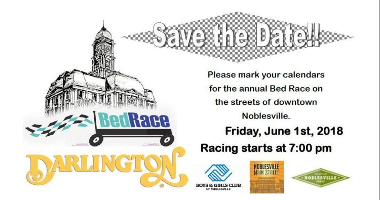 Darlington Bed Race in Downtown Noblesville