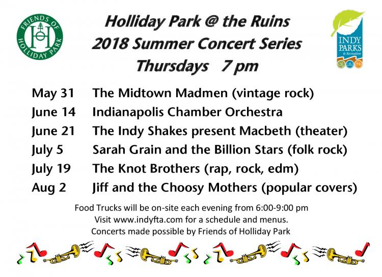 Free Summer Concert Series at Holliday Park