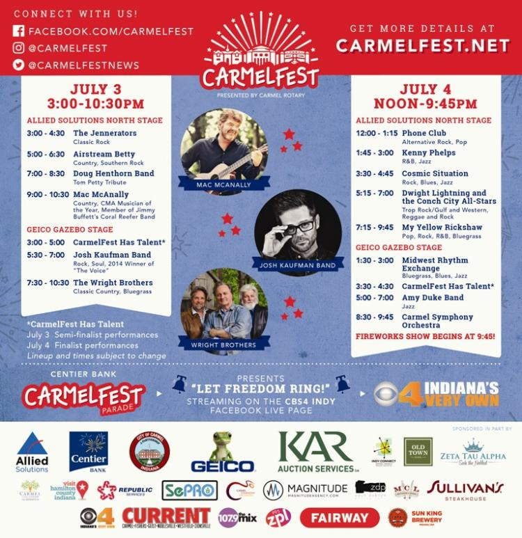 CarmelFest - Two day Independance Day Celebration in Carmel!
