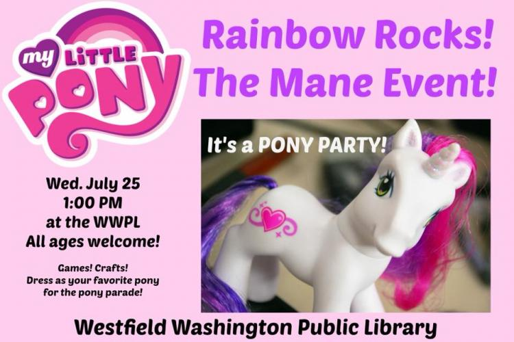 My Little Pony: Rainbow Rocks! The Mane Event at Westfield Library