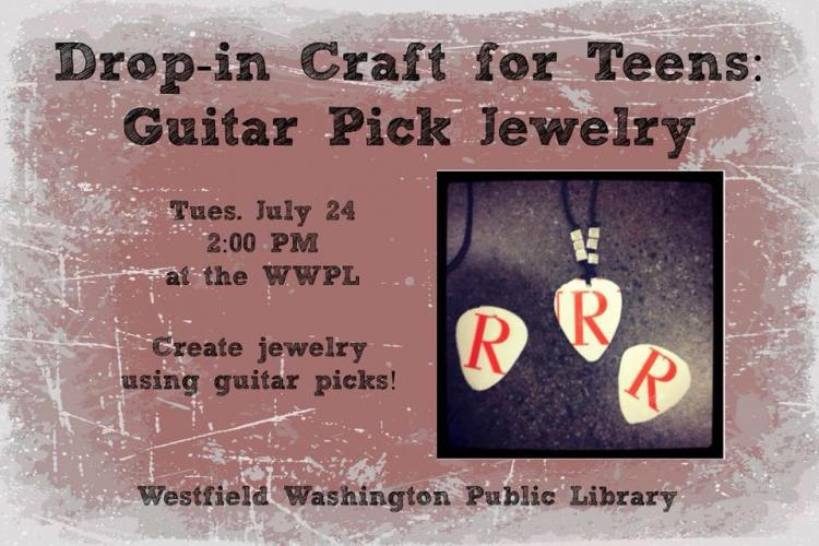 Teen Drop-In Craft at Westfield Library