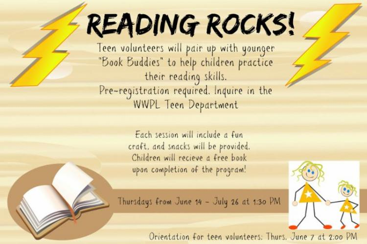 Reading Rocks - Book Buddy Program at Westfield Library
