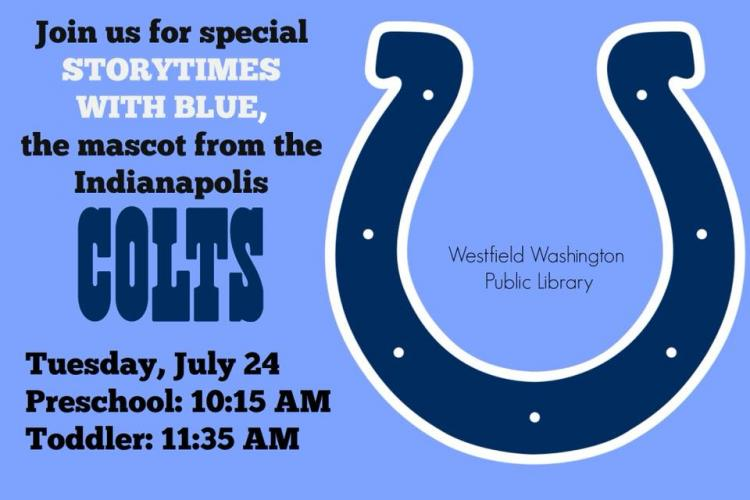 Special Storytimes with Blue at Westfield Library