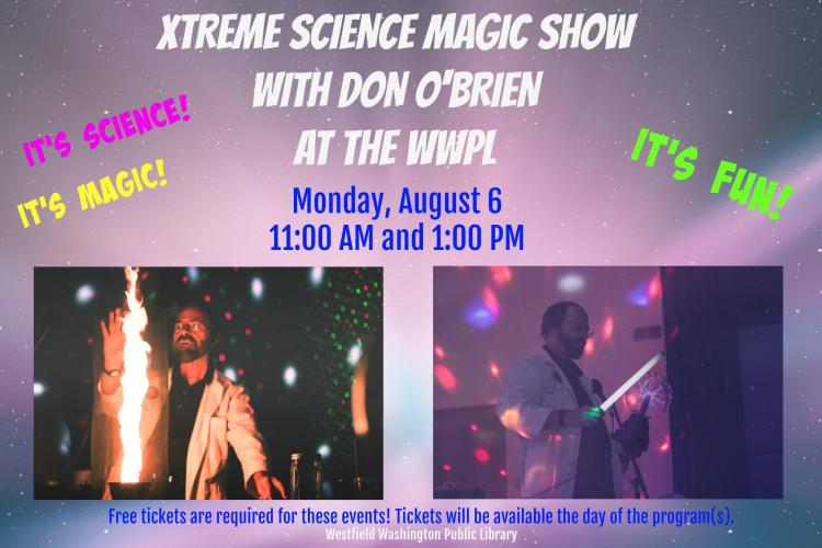 Xtreme Science Magic Show at Westfield Library