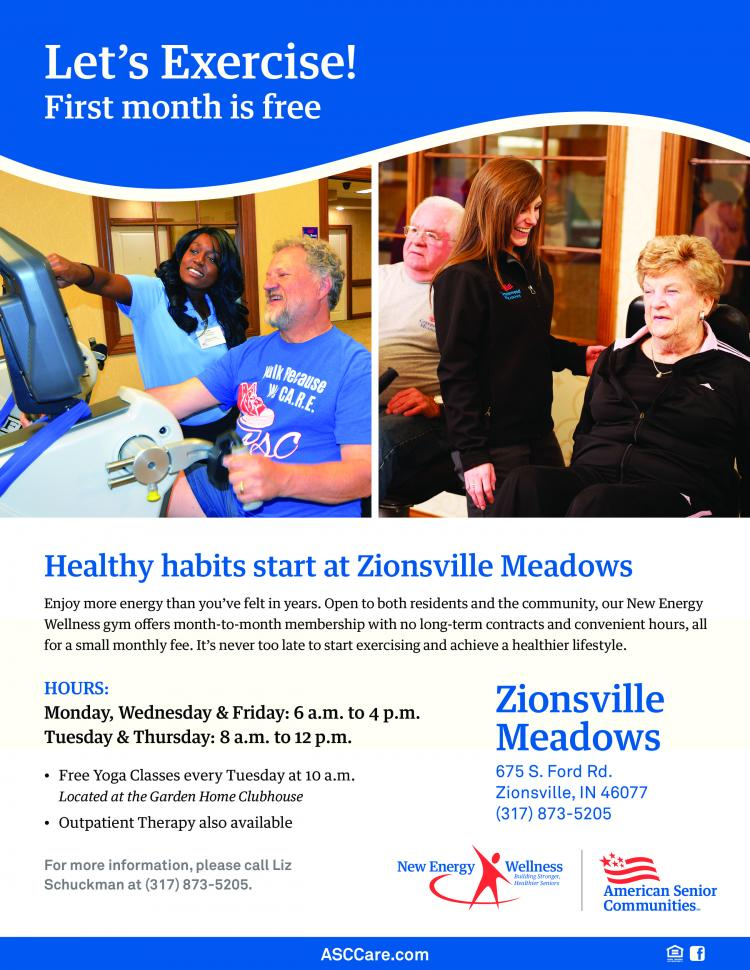 Senior Exercise Classes at Zionsville Meadows