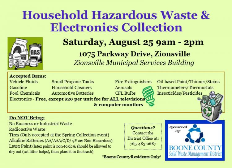 Household Hazardous Waste Collection for Boone County
