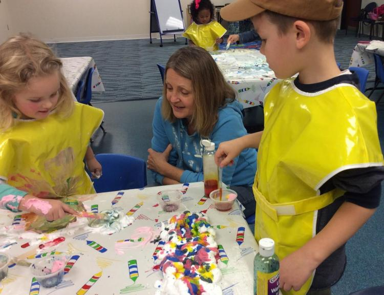Noblesville Pre-K Explorers at Noblesville Library
