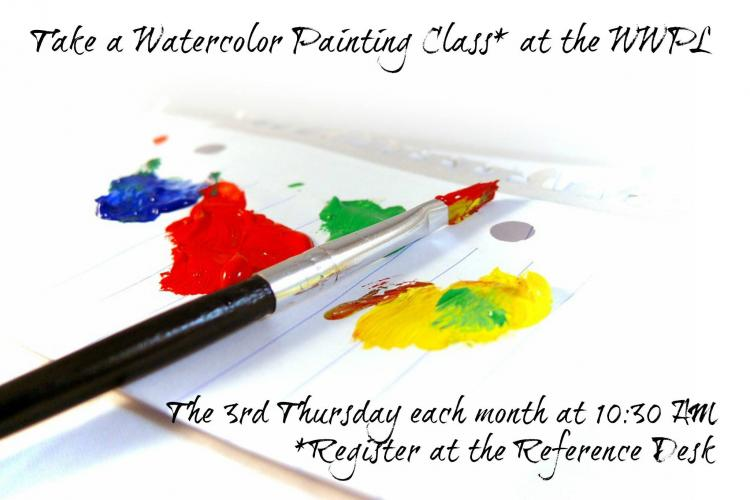 Watercolor Painting Class at Westfield Library
