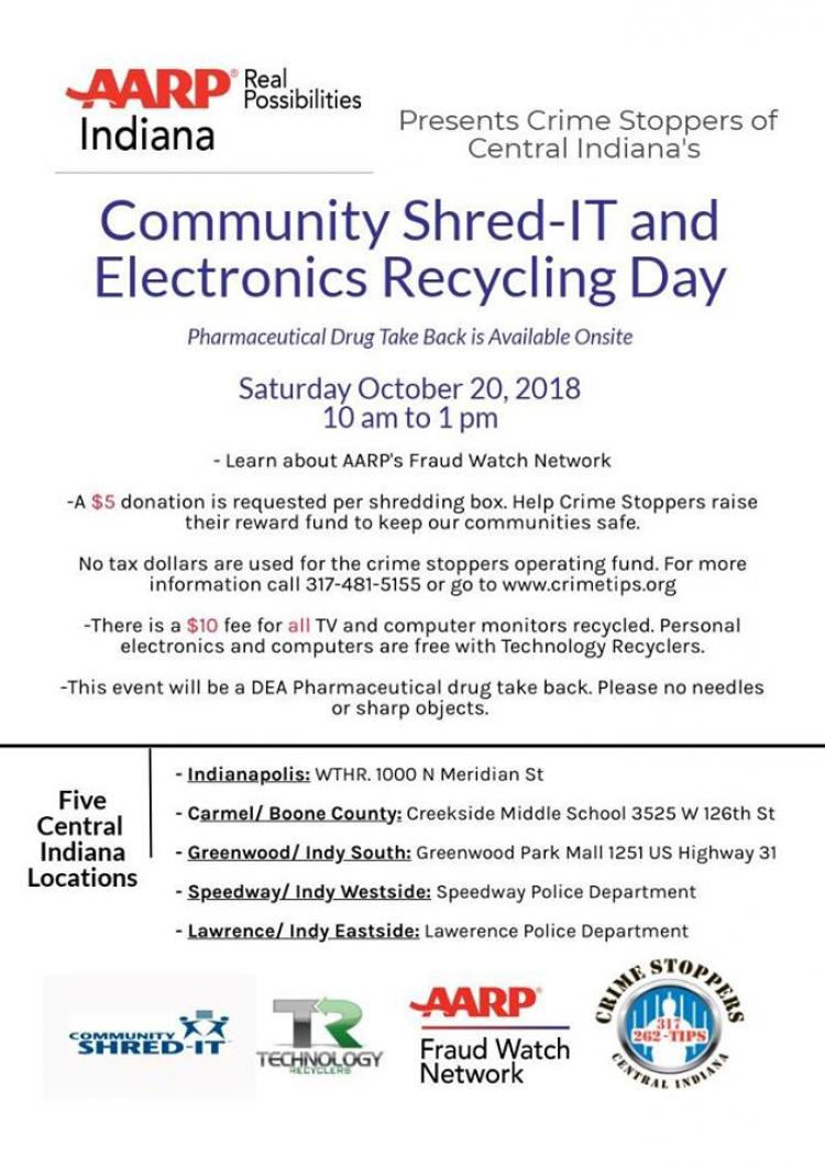 Community Shredding and Electronics Recycling Day in Carmel