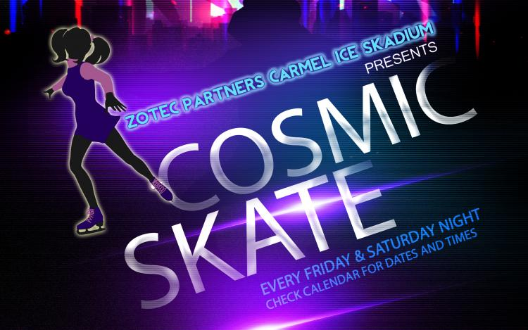 Cosmic Skate Night at Carmel Ice Skadium