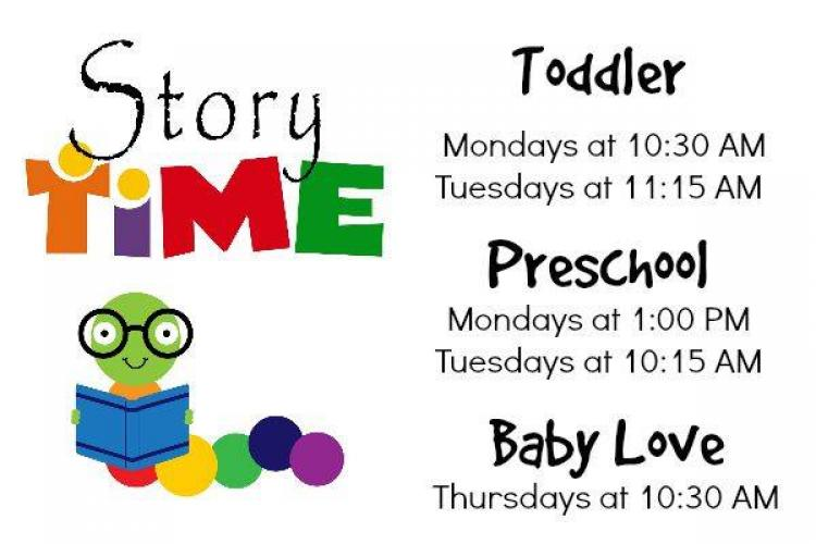Toddler Storytime at Westfield Library