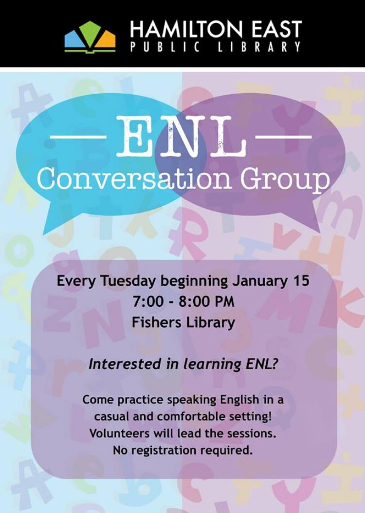ENL Conversation Group Daytime Session at Fishers Library