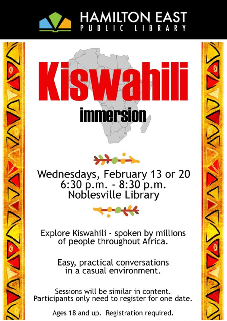 Swahili : Easy Conversationsat Noblesville Library
