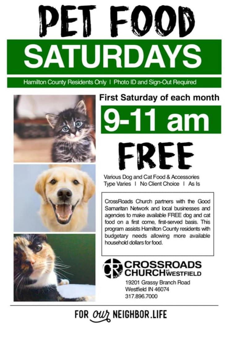 FREE Dog & Cat Food at CrossRoads Church in Westfield