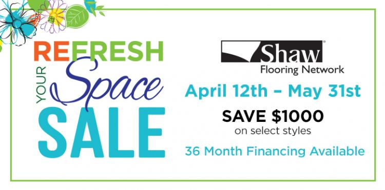 Refresh Your Space Sale at Kinsey's Floor Coverings