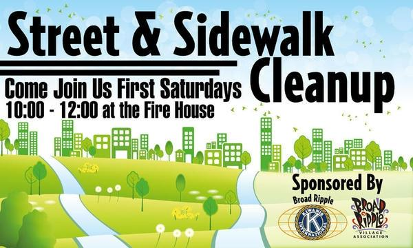 First Saturday Village Cleanup in Broad Ripple
