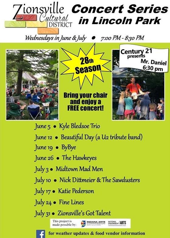 Lincoln Park Concert Series - Zionsville